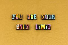 stock image of  push limit your goal achieve typography
