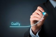 stock image of  quality improve