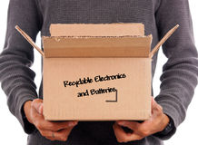 stock image of  recyclable electronics