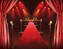 stock image of  red carpet entrance