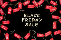 stock image of  fashion black friday holiday. red shopping sale discount labels