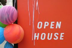 stock image of  open house sign