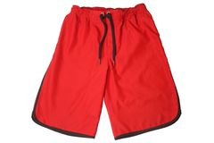 stock image of  red sport shorts