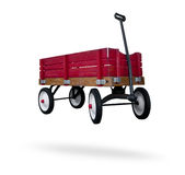 stock image of  red wagon