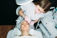 stock image of  rejuvenation procedure, getting rid of wrinkles