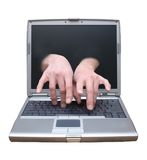 stock image of  remote desktop access, telecommuting, tech support