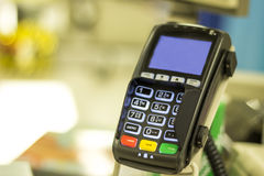 stock image of  retail card reader