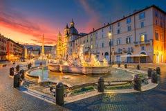 stock image of  rome, navona square.