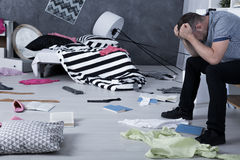 stock image of  room after a fight