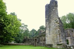 stock image of  the ruins of wycoller hall.
