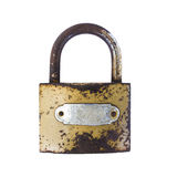 stock image of  rusty padlock