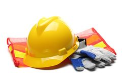 stock image of  safety gear kit