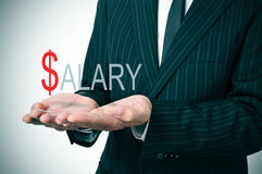 stock image of  salary