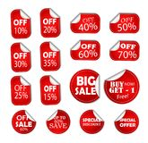 stock image of  sale discount specials banner price tag, sticker half off, save percent coupon icon