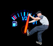 stock image of  save the fuel