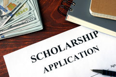 stock image of  scholarship application.