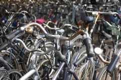 stock image of  a sea of bicycles