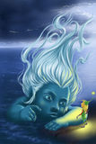 stock image of  sea fairy and gnome