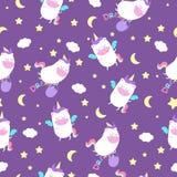 stock image of  seamless pattern with unicorns