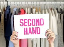 stock image of  second hand clothing