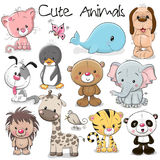 stock image of  set of cute animals