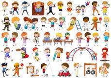 stock image of  set of doodle children
