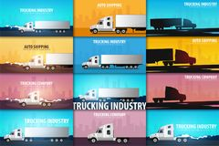 imagine stock despre  stabilit camioane industria logistice şi demisol vectorul