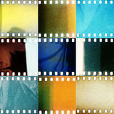 stock image of  set of various grained perforated film textures