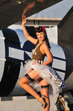stock image of  forties pinup girl