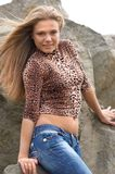 stock image of  girl with open waist