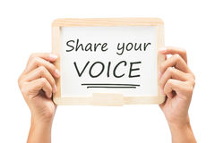 stock image of  share your voice