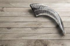 stock image of  ram`s shofar horn