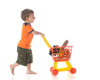 stock image of  shopper on the go