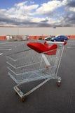 stock image of  shopping cart outside