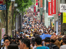 stock image of  shopping crowd