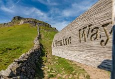 stock image of  sign: pennine way