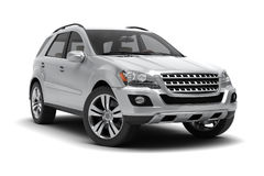 stock image of  silver suv