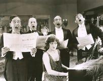 stock image of  singing off-key