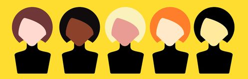 stock image of  avatar of women