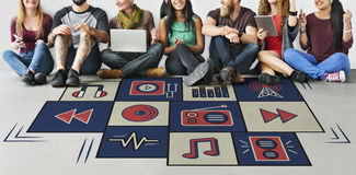 stock image of  social media entertainment lifestyle graphic concept