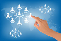 stock image of  social network