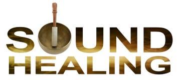 stock image of  sound healing logo