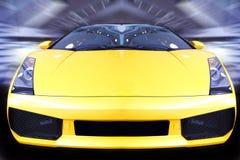 stock image of  speeding sports car
