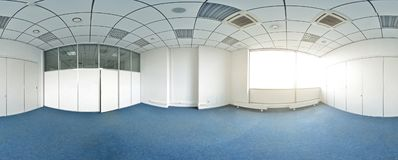 stock image of  spherical 360 degrees panorama projection, panorama in interior empty room in modern flat apartments.