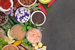 stock image of  spice and herb border