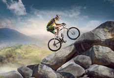 stock image of  sport. cyclist