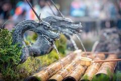 stock image of  spring water form dragon in oshino hakkai village, yamanashi prefecture, japan.