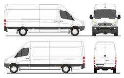 stock image of  mercedes sprinter van lwb