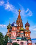 stock image of  st. basil`s cathedral in moscow, russia.