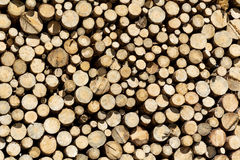 stock image of  stack of firewood